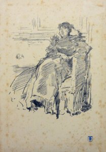 Obra: Mujer sentada - James Abbot Mac Neil Whistler